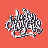 Merry Christmas Lettering Badge Stock Photography