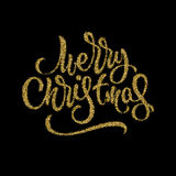Merry Christmas Lettering Badge Stock Image