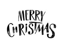 Merry Christmas lettering Royalty Free Stock Images