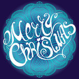 Merry Christmas lettering. Calligraphic Merry Christmas lettering. Vector illustration Royalty Free Stock Photography