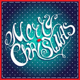 Merry Christmas lettering. Calligraphic Merry Christmas lettering. Vector illustration. Merry Christmas retro postcard. Quote isolated on background Vector Illustration