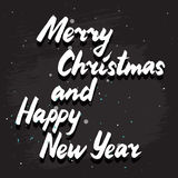 Merry Christmas lettering card Stock Photo