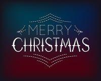 Merry Christmas lettering concept. Merry Christmas lettering design logo. Vector Illustration Stock Image