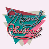 Merry Christmas lettering concept. Merry Christmas lettering design logo. Vector Illustration Stock Photos