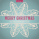Merry Christmas lettering. Congratulations card Royalty Free Stock Images
