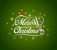 Merry Christmas lettering design background Stock Images