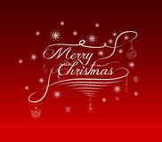Merry Christmas lettering design background Royalty Free Stock Images