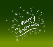 Merry Christmas lettering design background Royalty Free Stock Photos