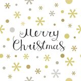 Merry Christmas lettering design card Royalty Free Stock Image