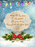 Merry Christmas Lettering Design. EPS 10 Royalty Free Stock Photos