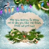 Merry Christmas Lettering Design. EPS 10 Royalty Free Stock Image