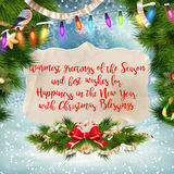 Merry Christmas Lettering Design. EPS 10 Stock Image