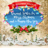Merry Christmas Lettering Design. EPS 10 Stock Images