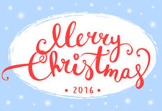 Merry Christmas lettering design for Greeting card Stock Images