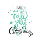 Merry Christmas Lettering Design . Happy New Year. Black and gold colors.  series Royalty Free Stock Photography