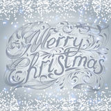 Merry Christmas  lettering design message. Royalty Free Stock Images
