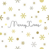 Merry Christmas lettering design Stock Images
