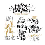 Merry Christmas Lettering Design Set. Vector Stock Photography