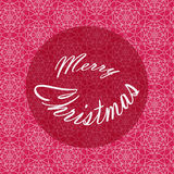 Merry Christmas Lettering Design.   Vector card.   Holiday background. Stock Photography