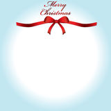 Merry Christmas. Lettering greeting with bow and background Royalty Free Stock Images