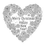 Merry christmas, lettering Greeting Card design. Vector doodle Merry Christmas, lettering Greeting Card design .Vector illustration. Hand drawn line illustration Royalty Free Stock Photo