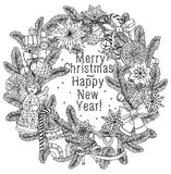 Merry christmas, lettering Greeting Card design Stock Image
