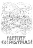 Merry christmas, lettering Greeting Card design Royalty Free Stock Photo