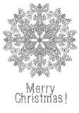 Merry christmas, lettering Greeting Card design. Vector doodle Merry Christmas, lettering Greeting Card design .Vector illustration. Hand drawn line illustration Royalty Free Stock Image