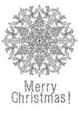 Merry christmas, lettering Greeting Card design. Vector doodle Merry Christmas, lettering Greeting Card design .Vector illustration. Hand drawn line illustration Stock Photo