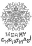 Merry christmas, lettering Greeting Card design Stock Images