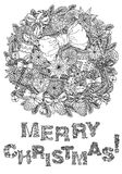 Merry christmas, lettering Greeting Card design Royalty Free Stock Image