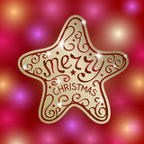 Merry Christmas. Lettering for Greeting Card design. Vector illustration vector illustration