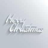 Merry Christmas lettering Greeting Card Stock Image
