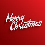 Merry Christmas lettering Greeting Card Royalty Free Stock Image