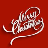 Merry Christmas lettering Greeting Card Royalty Free Stock Photos