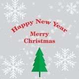 Merry Christmas Lettering for greeting card 001 stock illustration