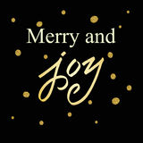 Merry Christmas Lettering greeting card Stock Photos