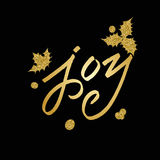 Merry Christmas Lettering greeting card Royalty Free Stock Photo