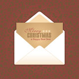 Merry Christmas lettering Royalty Free Stock Image