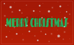 Merry Christmas lettering greeting card. Vector illustration Stock Photos