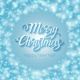 Merry Christmas lettering Stock Photo
