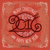 MERRY CHRISTMAS lettering1 Stock Photo