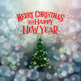 MERRY CHRISTMAS lettering1 Stock Images