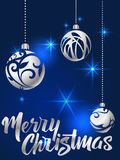 Merry Christmas lettering. Hand written Merry Christmas poster. Royalty Free Stock Photo