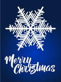 Merry Christmas lettering. Hand written Merry Christmas poster. Stock Photos