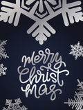 Merry Christmas lettering. Hand written Merry Christmas poster. Stock Image