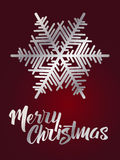 Merry Christmas lettering. Hand written Merry Christmas poster. Royalty Free Stock Photos