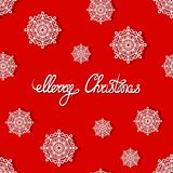 Merry Christmas. Lettering. Holiday greeting card. Snowflakes. Vector illustration Stock Image