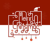 Merry Christmas lettering icon abstract background.Hand drawn Me Royalty Free Stock Images