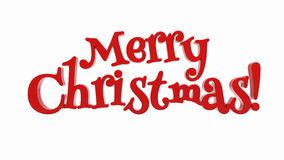 Merry Christmas lettering isolated Stock Photography